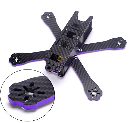 - YoungRC 220mm FPV Racing Drone Frame kit Carbon Fiber X Quadcopter Frame with 4mm Arm