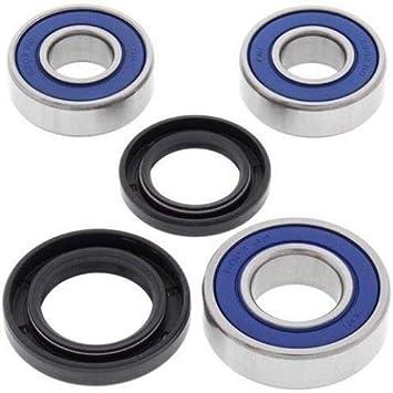 Boss Bearing K-KX80-RR-98-00-3B6-B-6 Rear Wheel Bearings and Seals Kit for Kawasaki KX100 1998-2011