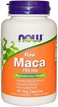 NOW Supplements, Maca (Lepidium meyenii)750 mg Raw, 90 Veg Capsules