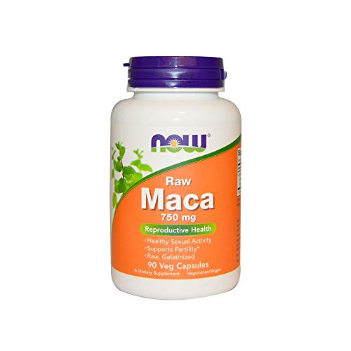 NOW Supplements, Maca (Lepidium meyenii)750 mg Raw, 90 Veg Capsules (Hormonal Concentrated Support)