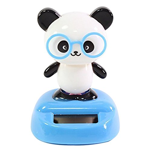 Dancing Panda with Glasses Solar Powered Toy Office Desk Home Decor Birthday Gift USA Seller ~ We Pay Your Sales - Glasses With Panda