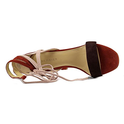 À Multi Sandales Fisher Suede Marc Femmes Talon Fatima Brown wOqIx