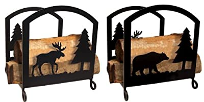 18 Inch Moose and Bear Wood Rack