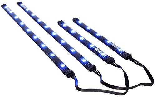 VIVO Magnetic Blue LED Lighting Kit for PC Computer Case / Stick Lights w/ Power Cable (LED-V02) - Blue Lighting