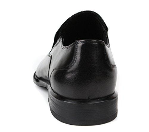 Pantalone Slip-on In Pelle Genuina Uomo Santimon Nero