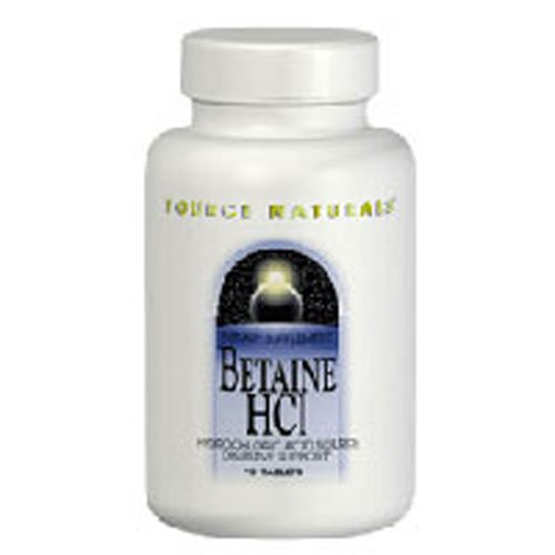 Betaine Hcl, 90 Tabs by Source Naturals (Pack of 6)