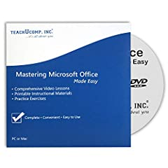 Learn Microsoft Office 2016 and 2013 with this comprehensive course from TeachUcomp, Inc. Mastering Microsoft Office Made Easy features 809 video lessons with over 42 hours of introductory through advanced instruction. You get our complete co...