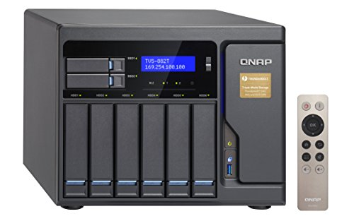 Qnap 8 Bay Thunderbolt 2 Das/NAS/iSCSI Ip-San Solution, Intel Core i5 3.6GHz Quad Core (TVS-882T-i5-16G-US) by QNAP