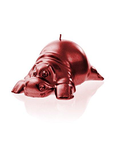Candellana Candles Hippo, Red Metallic ()