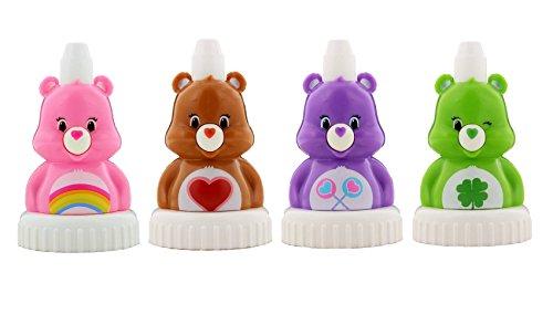 good2grow spill-proof bottle toppers 4-pack, Care Bears - Cheer Bear, Tenderheart Bear, Share Bear & Good Luck Bear