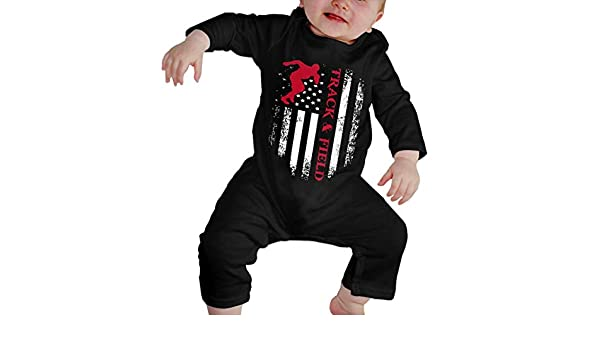YELTY6F Irish Flag Shamrock Printed Baby Boys Girls Bodysuit Long Sleeve Romper Black
