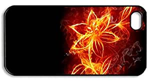 The Fire Flower Diy Rubber Material For Iphone 5/5S.
