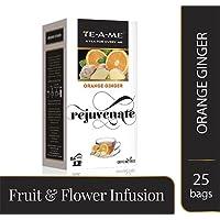 TE-A-ME Herbal Infusion Tea | ICE TEA | Pack of 25 Tea Bags (Orange Ginger)