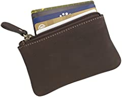 - Genuine Leather Coin Purse - Durable construction that lasts for years - Classic design matches fashion styles for men and women - Small size 5 x 3 inch purse is easy to carry anywhere - Versatile, multi-functional pouch weighs less than 1 ...