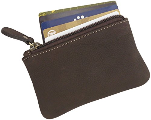 Leather Purse Change Wallet Small