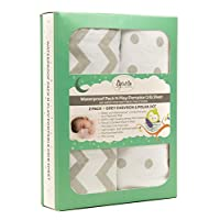Ely's & Co. Kid's Waterproof Pack n Play Portable Mini Crib Sheet with Mattre...