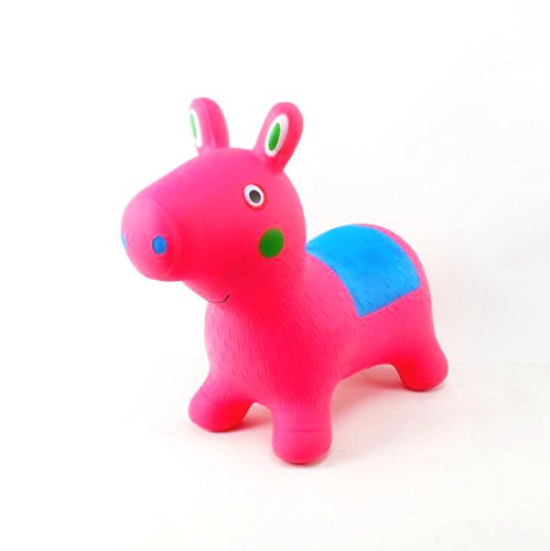Inflatable Piggy Bouncer - Peppa Pig Style Cutest Ride-on Bouncy Animal Hopper for Kids Pump Included (Inflatable Space Hopper, Jumping Pig, Ride-on Bouncy Animal)