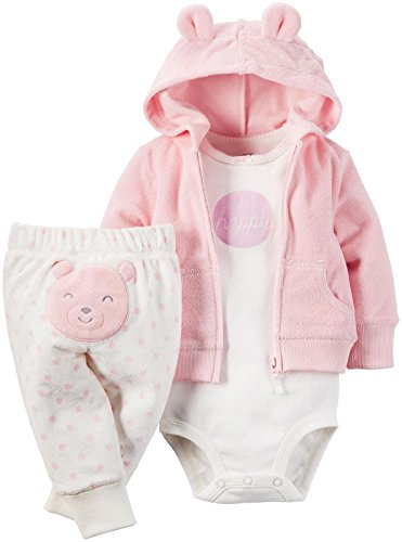 Carter's Girls' 3 Pc Sets 126g280, Pink, 3 Months