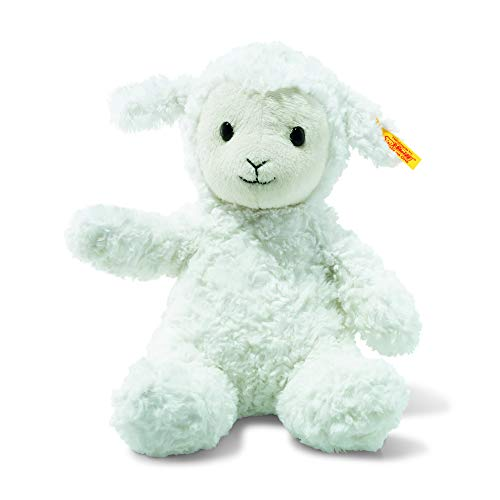 (Steiff Fuzzy Baby Lamb Stuffed Animal - Soft And Cuddly Plush Animal Toy - 12