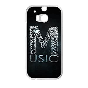 Music black background personalized high quality cell phone case for HTC M8 by icecream design