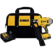 Dewalt DCN21PLM1R 20V MAX Lithium-Ion 21-Degree Plastic Collated Framing Nailer Kit (4 Ah) (Renewed)