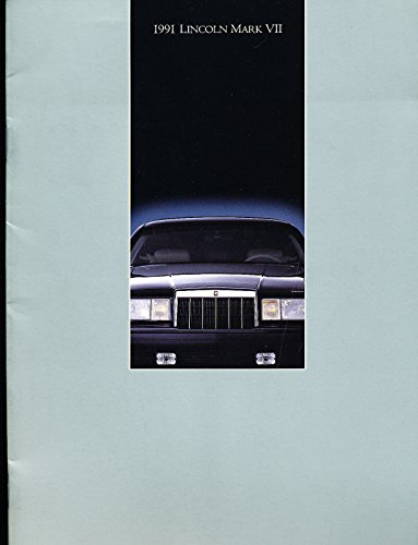 1991 Lincoln Mark VII and LSC 16-page Car Sales Brochure Catalog - Bill Blass