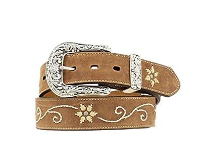 Nocona Belt Co. Women's Floral Stitched Leather