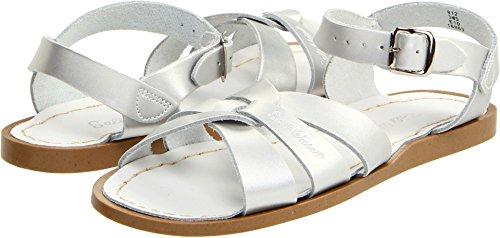 Salt Water Sandals by Hoy Shoe Original Sandal (Toddler/Little Kid/Big Kid/Women's), Silver, 10 M US Toddler