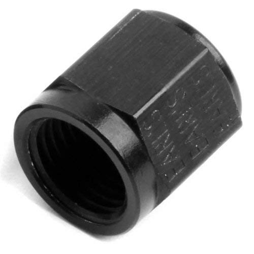 NOS/Nitrous Oxide System 17554NOS Pipe Fitting Tube Nut -4AN 1/4 in. Tube Black Aluminum Pipe Fitting Tube Nut