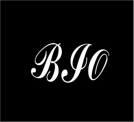 3  White Monogram 3 Letters Bio Initials Script Style Vinyl Decal Great Size For Cups Or Use On Any Smooth Surface