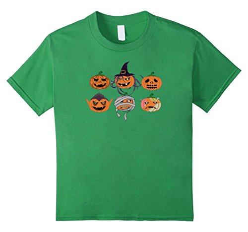 Kids Pumpkin Face Witch Ghost Mummy Vampire Wolf Shirt 10 (Child Mummy Ghost Face Costumes)