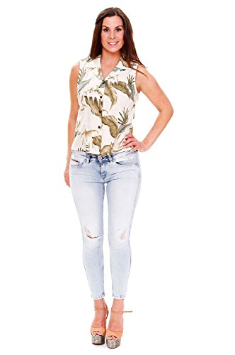 Camisas Mujer Sky Beige Para Ky's HqwnxT54t