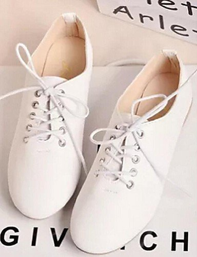 5 uk6 Casual mujer Zapatos de us7 white Cerrada ZQ eu38 5 white Semicuero Plano Oxfords us8 Tacón eu39 eu38 us7 cn39 Blanco white Punta cn38 uk5 uk5 5 cn38 5 8faxwdEqw