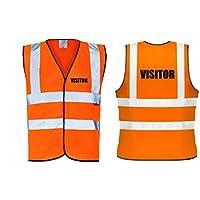 60 Second Makeover Limited Hi Viz Orange Vis Vests Visitor Safety High Visibility Workwear Building Site X-Large