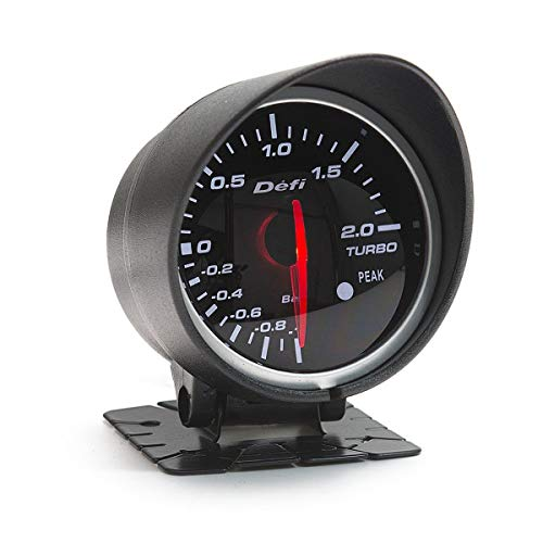 Universal Racing Style Gauge Car Turbo Boost Gauge, 60mm Red & White Light Car Turbo Boost Gauge Meter: