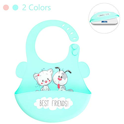 Cnxionel Bibs Silicone Baby feeding Bib Easy To Clean Comfortable Soft Girl Boy Bibs for Babies & Toddlers