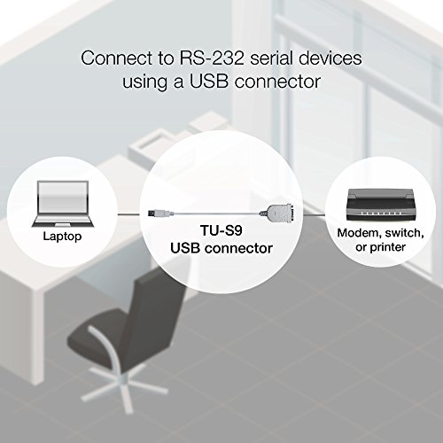 TRENDnet USB to Serial Converter, Connect a RS-232 Serial Device to a USB Port, Easy Installation, Universal Plug & Play, TU-S9