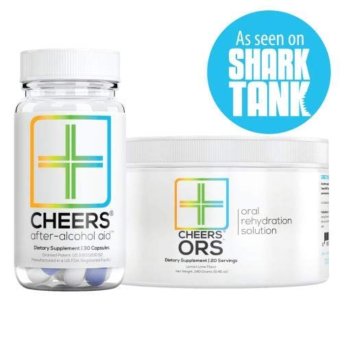 Cheers (Formerly Thrive+) After Alcohol Aid & ORS Combo | for Fast Alcohol Detox & Rehydration Recovery After Drinking Alcohol. Replenish with Our Electrolyte Formula … ()