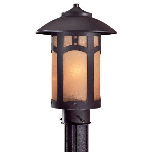 Beacon Rhodes Outdoor Post Mount Lantern in Dorian Bronze