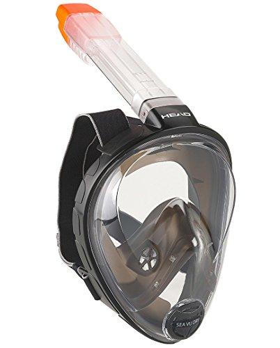 HEAD Sea VU Dry Full Face Snorkeling Mask, Small/Medium