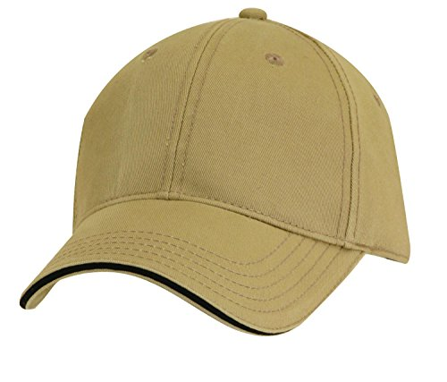 - Dorfman Pacific Co. Men's Structured Twill Cap with Sandwich, Khaki/Black, One Size