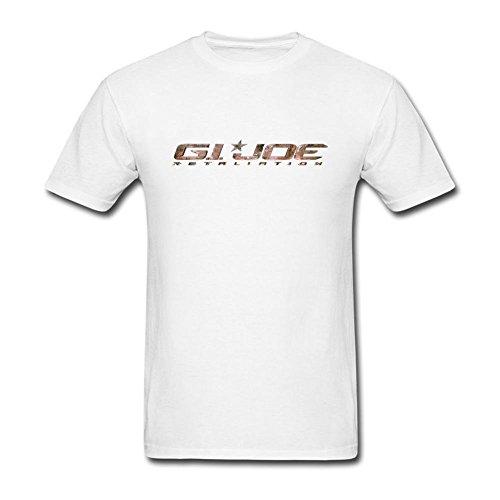 Price comparison product image Guwmi Men's G.I. Joe 2 Retaliation Logo T Shirt White XXL