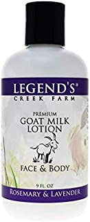 product image for Legend's Creek Farm Lotion, Premium Goat Milk Lotion, No Harsh Chemicals, Deeply Moisturizing, Handmade in USA (Rosemary & Lavender L.)