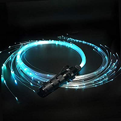 خفق رقص الألياف الضوئية مع الألياف الضوئية Led لعبة ذات شريط دوار 360 درجة فائقة السطوع أكثر من 40 نمط تأثير اللون تضيء الحفلات الراقصة والموسيقى والمهرجانات والكريسماس Amazon Ae