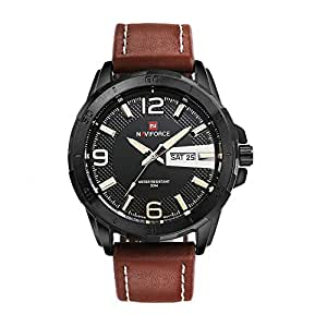 Men Analog Military Fashion Leather Wrist watch