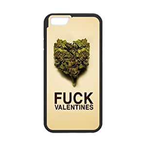 Fuck Valentines Weed iPhone 6 4.7 Inch Cell Phone Case Black phone component AU_602705