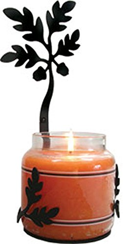 Iron Acorn Large Jar Sconce - Heavy Duty Metal Candle ()