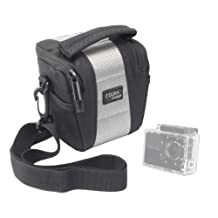 DURAGADGET Stylish Water Resistant Camcorder Case With Extra Storage Space For Your Accessories Compatible With Intova Sport Pro HD Video Camera, Midland XTC-100, XTC-200, XTC-300, XTC-400, Toshiba Camileo X-Sports, Veho MUVI & MUVI HD