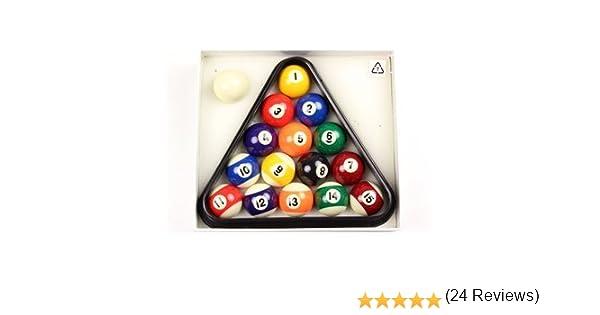 BCE - Minijuego de bolas de billar + triángulo (41 mm): Amazon.es ...
