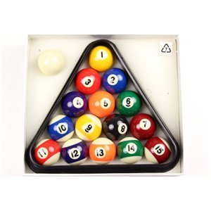 BCE 41mm (1 5/8') Home SMALL SIZE Numbered Spots & Stripes Pool Balls & Triangle